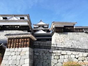 松山城までの東雲口登城ルート入り口からの所要時間